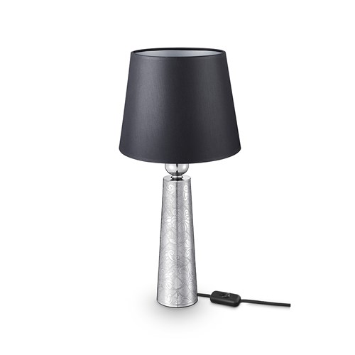 Christofle Jardin d'Eden Table Lamp, Black Fabric Shade