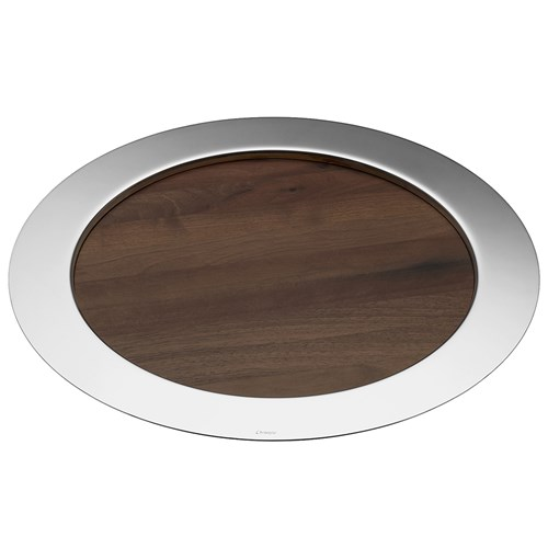 Christofle Oh De Christofle Stainless Steel Large Round Tray