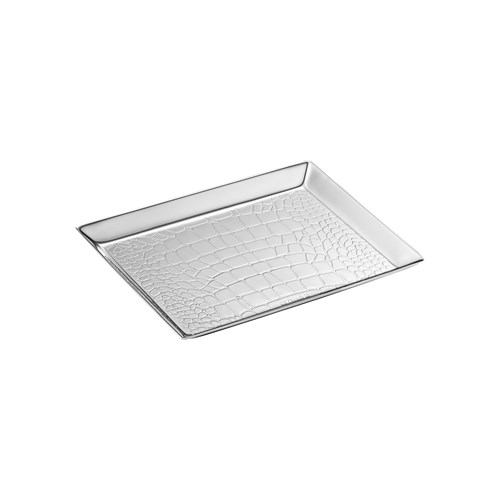 Christofle Croco d'Argent Silverplated Business Card Tray