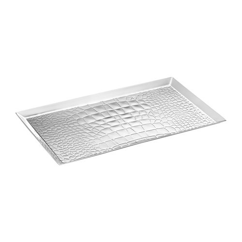 Christofle Croco d'Argent Silverplated Office Trays