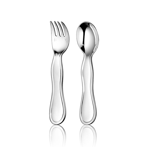Christofle Uni Silverplated Two-Piece Baby Flatware Set