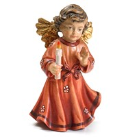 Red Bavarian Christmas Angel, Large