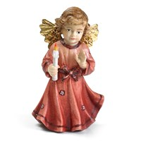 Red Bavarian Christmas Angel, Small