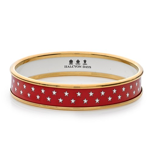 Halcyon Days Stars Bangles, Red - Small