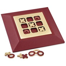 Oxblood & Cream Tic-Tac-Toe Set