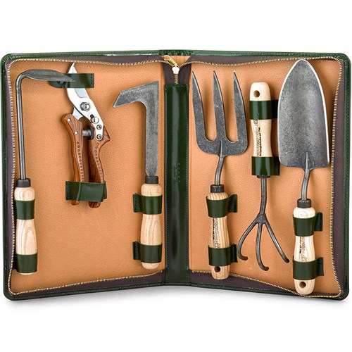 Calf Leather Gardening Kit with Pruning Shears