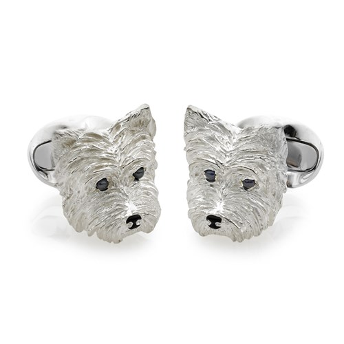 Sterling Silver West Highland Terrier Cufflinks