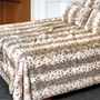 Faux Lynx Bed Spread, Queen