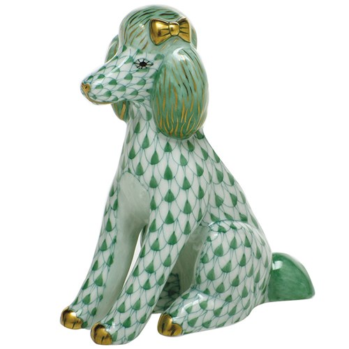Herend Poodle, Green