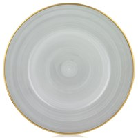 Anna Weatherley Contemporary Charger, Brushed Platinum