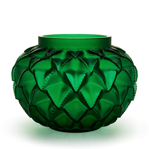 Lalique Languedoc Grand Vase, Green