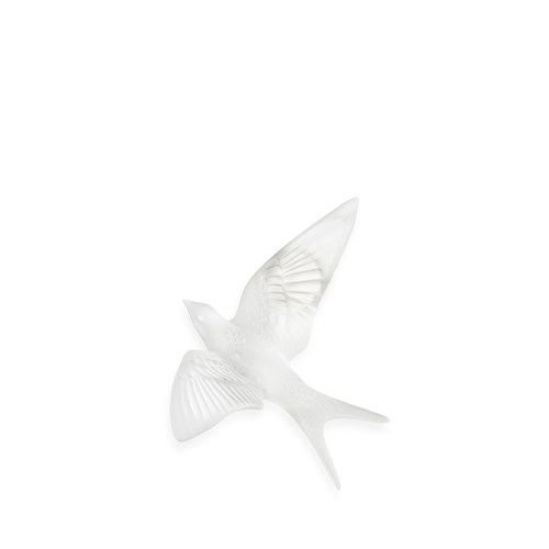 Lalique Swallow Wall Sculpture, Clear