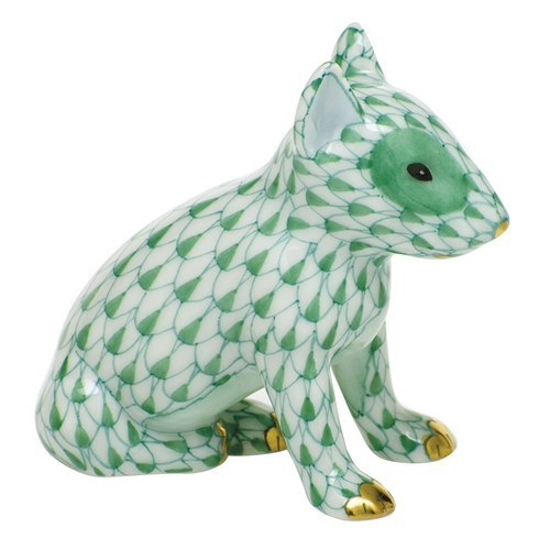 Herend English Bull Terrier Puppy, Green