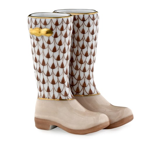 Pair of Rain Boots, Chocolate