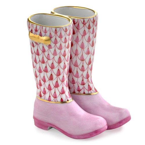 Pair of Rain Boots, Raspberry