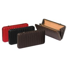 Leather Woven Clutches