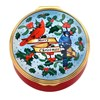 "Halcyon Days Festive Birds / ""Merry Christmas"" Enamel Box"