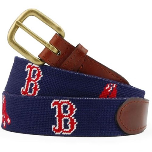 MLB Boston Red Sox Needlepoint Belt, Size 28