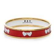 Halcyon Days Love Hearts on Red Bangles