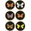 Butterfly Round Glass Mats & Coasters