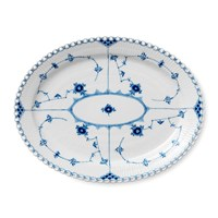 Royal Copenhagen Blue Fluted Full Lace Oval Platter