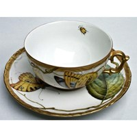 Anna Weatherley Antique Forest Leaf Tea Cup & Saucer