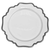 Anna Weatherley Antique White with Brushed Platinum Dinner Plate