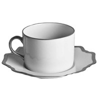Anna Weatherley Antique White with Brushed Platinum Tea Saucer