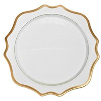 Anna Weatherley Antique White with Gold Charger / Presentation Plate