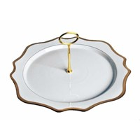 Anna Weatherley Antique White with Gold Tray with Handle