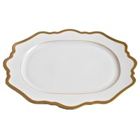 Anna Weatherley Antique White with Gold Oval Platter