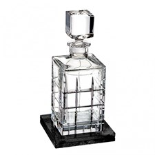 Waterford Cluin Collection Decanter with Marble Coaster