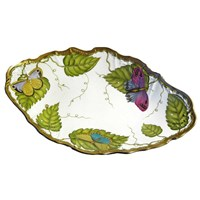 Anna Weatherley Exotic Butterflies Open Vegetable Serving Bowl