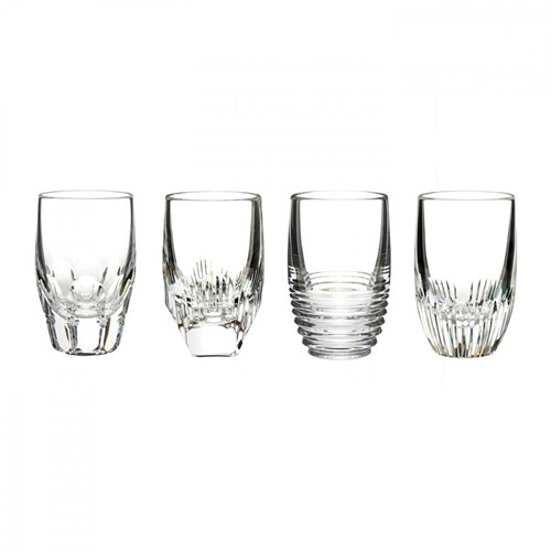 Waterford Mixology Assorted Clear Shot Glass, Set of 4