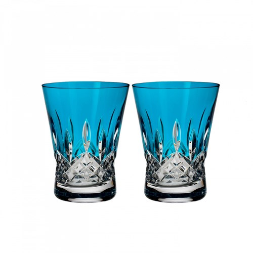 Waterford Lismore Pops Aqua Double Old Fashioned, Pair