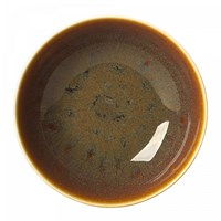 Art Glaze Flamed Caramel Coupe Bowl, Medium