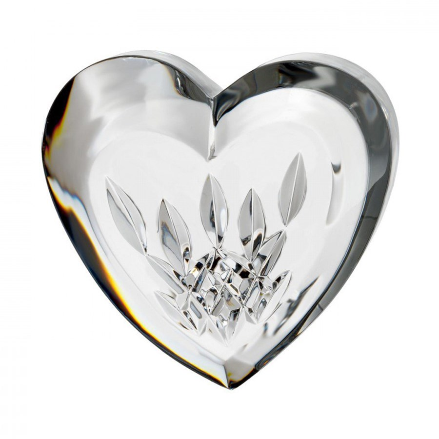 Waterford Lismore Heart Paperweight Table Accessories