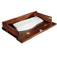 Mahogany Drop Down Keyboard Drawer