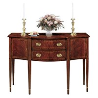 Mahogany Ribbon Stripe Sideboard