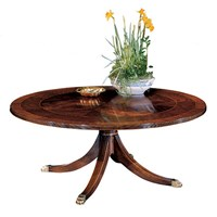 Mahogany Round Cocktail Table