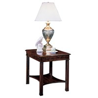 Mahogany Rectangular End Table