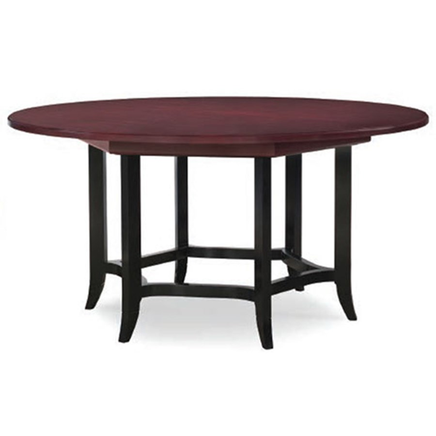 Round Mahogany Dining Table. Hover To Zoom