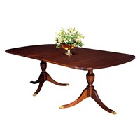 Mahogany Double Urn Pedestal Dining Table