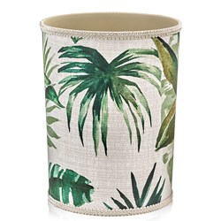 Tropical Green Leaf Wastebasket