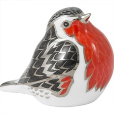 Royal Crown Derby Midnight Robin Paperweight