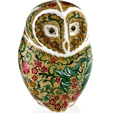 Royal Crown Derby Parchment Owl Paperweight