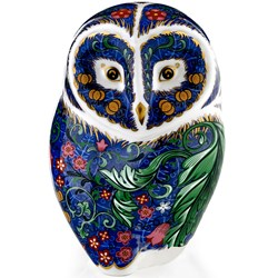 Royal Crown Derby Periwinkle Owl Paperweight