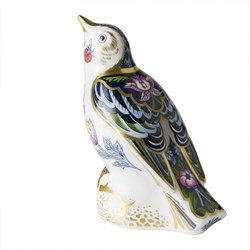 Royal Crown Derby Strawberry Thief Thrush Paperweight