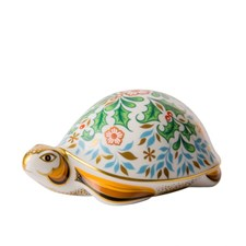 Royal Crown Derby Winter Tortoise Paperweight