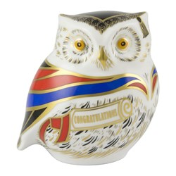 Royal Crown Derby Wise Owl Paperweight